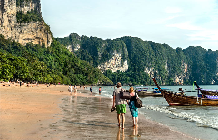 Start your holiday with a stroll along Ao Nang's beaches