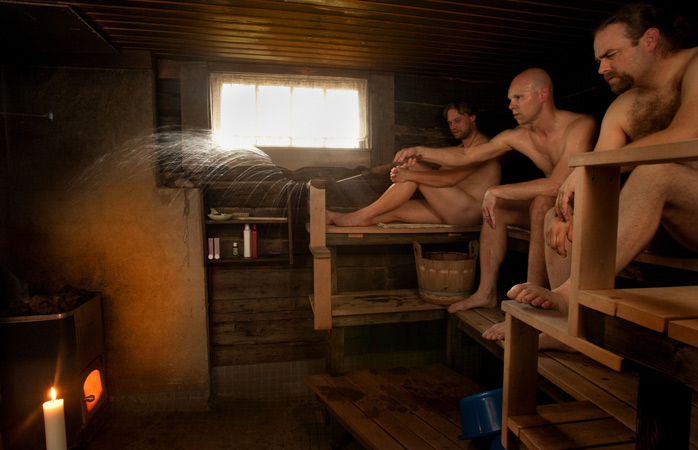 Nothing is more local in Finland than a hot sauna session