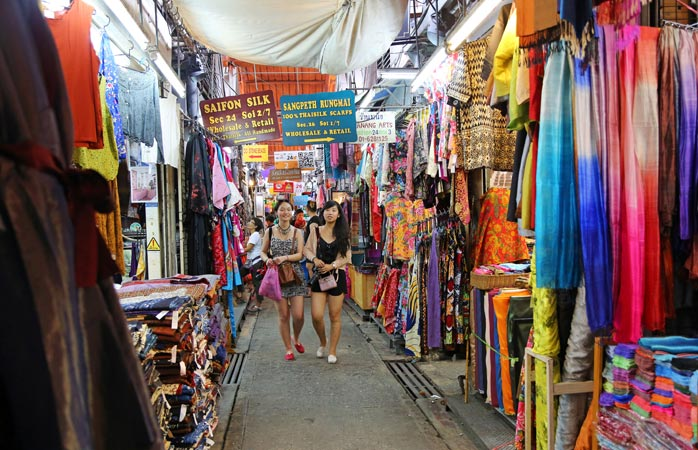 Find your colourful clothing at Chatuchak Weekend Market in Bangkok