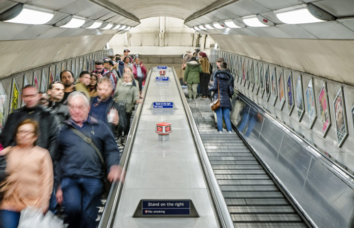 Stand on the right in the London underground and everything will be fine