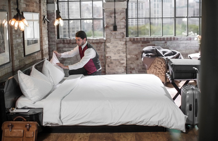 No stress to keep your bed tidy when staying at a hotel