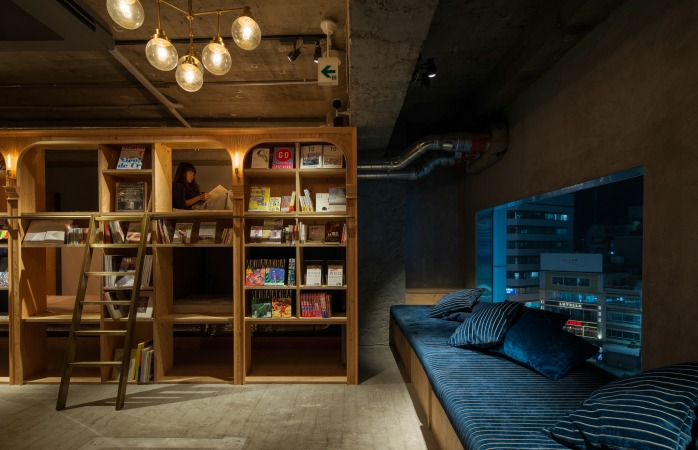 At Tokyo's Book and Bed Hotel you can read 'til you drop, wake up again and read some more
