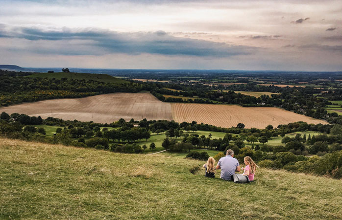 Enjoy the view over the Chiltern Hills