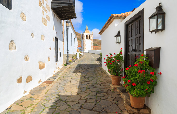 The charming streets of Betancuria