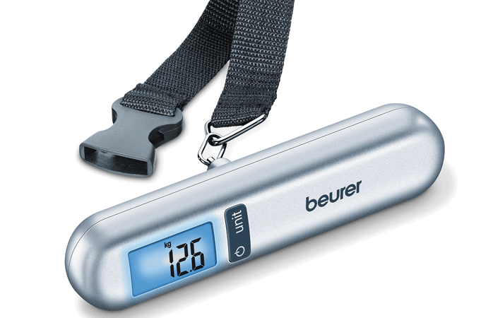 Stay within your luggage weight limits with Beurer's luggage scale