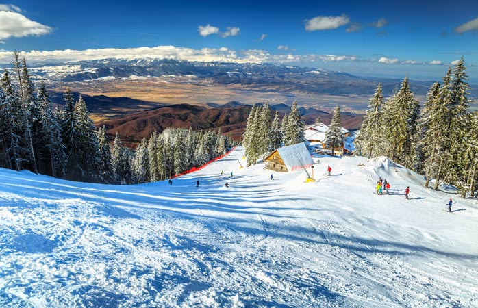 It's easy to see why skiing is so popular when the views look this good - Poiana Brasov, Romania