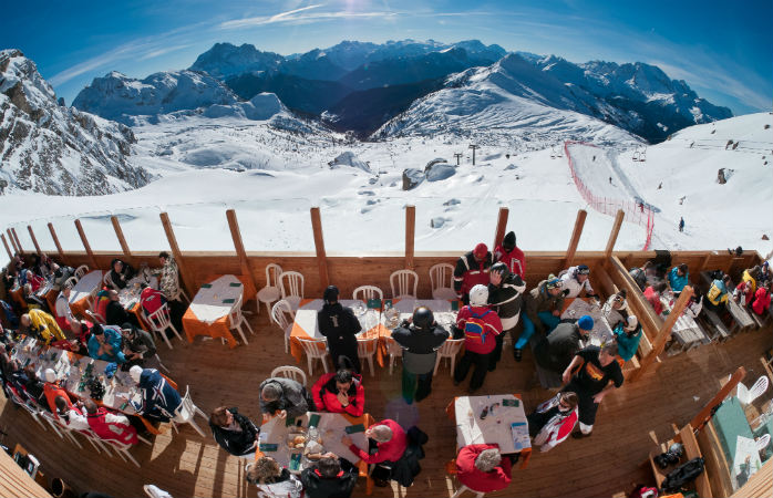 The best gourmet food in skiing can be found at Alta Badia