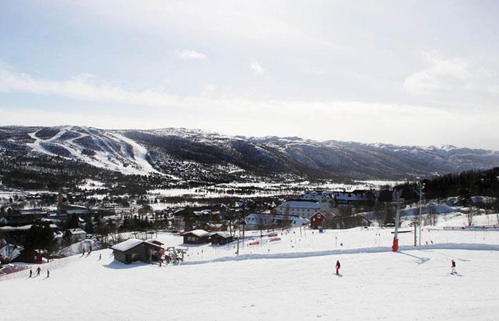 The huge Geilo ski resort of western Norway