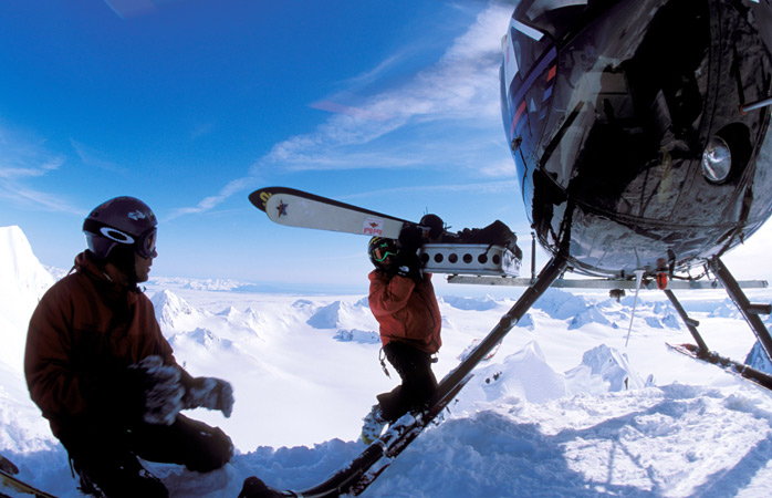 Extreme winter sports don't come tougher than heli-skiing!