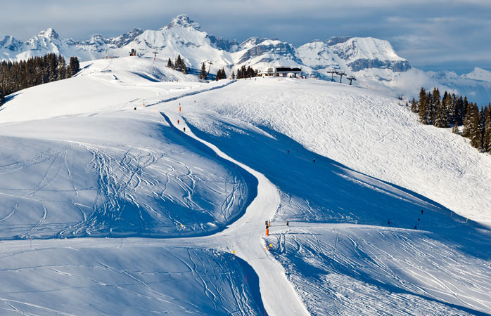 The traffic-free slopes of Megève, where you can have the pistes to yourself