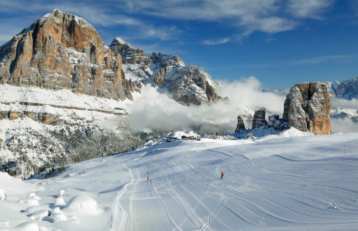 Home of chic - Cortina's smooth pistes and its quaint village give this ski destination a unique appeal