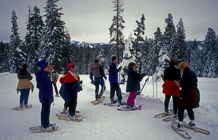 Slip on your shoes and start skiing - in Yosemite National Park