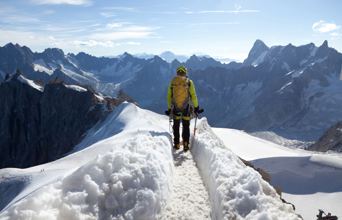 Go head-to-head with the elements while mountaineering Mont Blanc