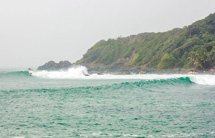 Cape Three Points, a remote and beautiful surfing spot with excellent waves