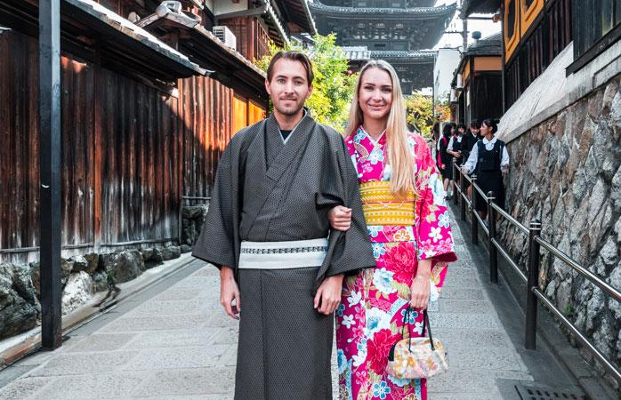 Do like the locals ... stroll around Kyoto in a kimono or yukata