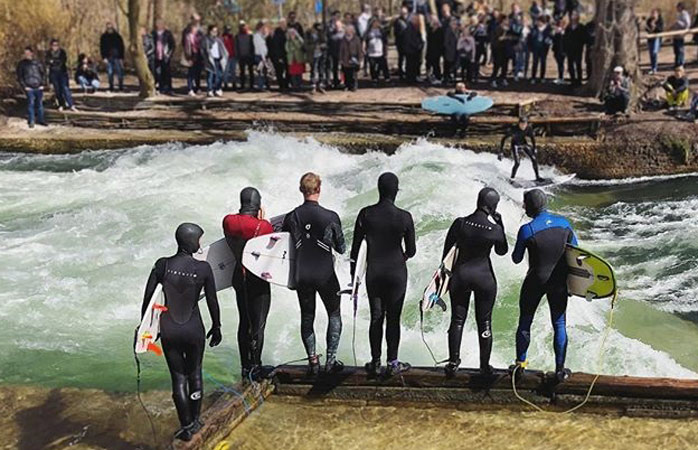 Catch the wave at Eisbach Welle