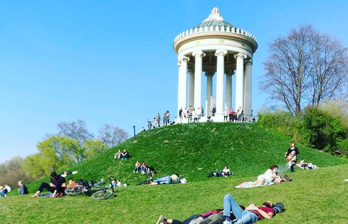 Englischer Garten, the place locals like to take in the sun