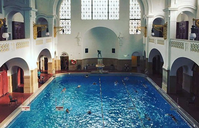 Fancy a swim at the city's oldest bath, the Müller'sches Volksbad?