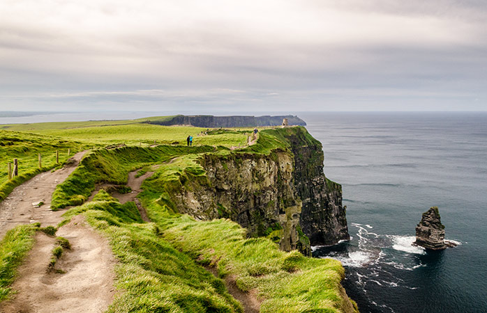 Dare walking at the edge of Ireland's Cliffs of Moher?