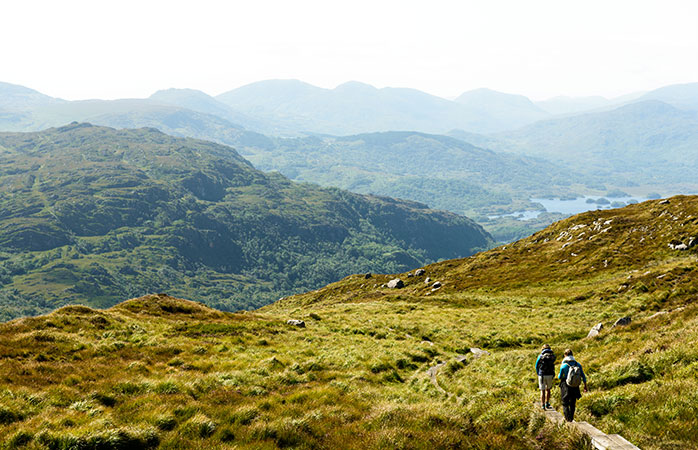 Visit the Killarney National Park and follow the incredibly scenic Torc Mountain trail