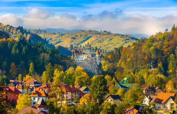 The idyllic Romanian countryisde surrounding Brasov