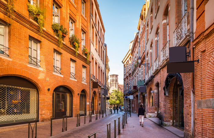 The street scene of Toulouse
