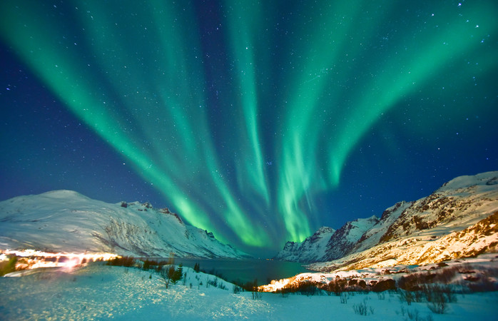 You don't need to venture out of Tromsø to catch a glimpse of those beautiful northern lights