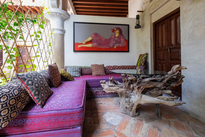 Want an alternative to over-the-top luxury hotels? Try XVA Art Hotel (and café) in the heart of Al Fahidi