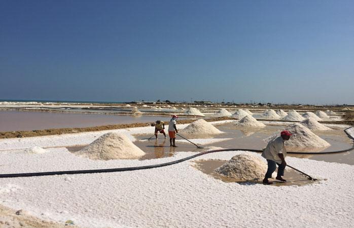 First stop in La Guajira: the salt mine in Urbia