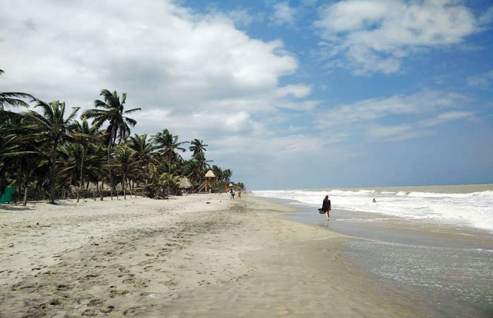 Stroll along the beach in Palomino - it doesn't get much better than this