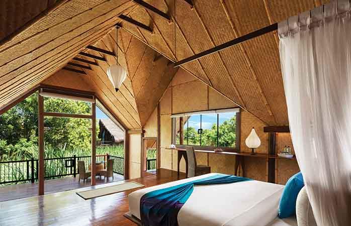 The eco friendly hotel Jetwing Vil Uyana in Sri Lanka