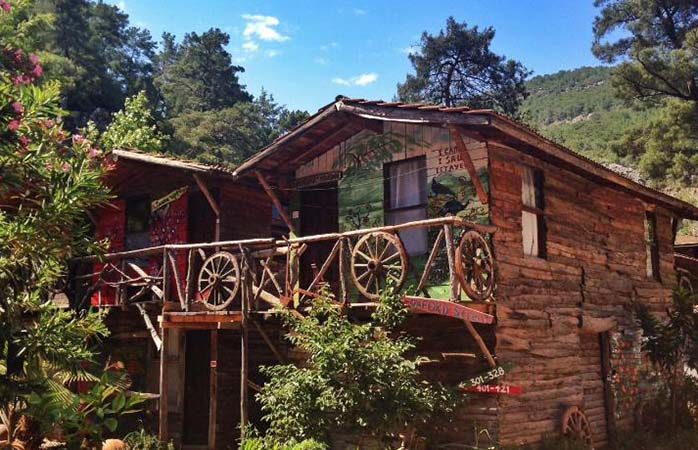 A typical suite at the Kadir Treehouses resort in Olympos, Turkey