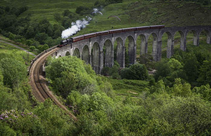 The train will take you to the tiny villages, big cities and everywhere in between