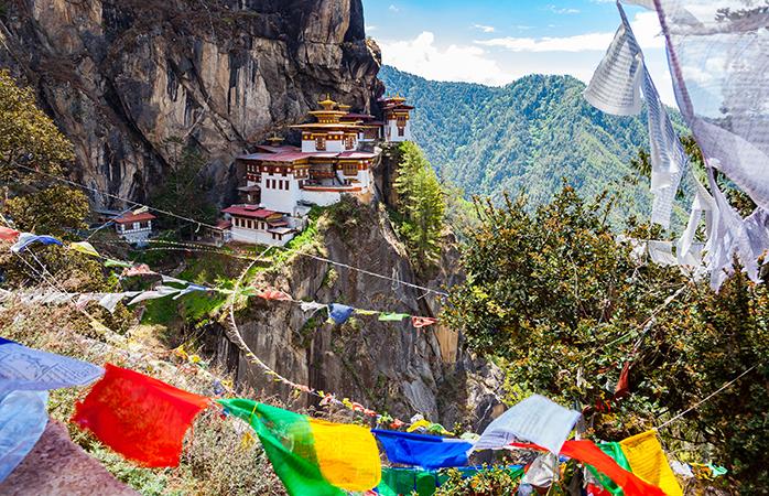 Himalayan Buddhist temple Paro Taktsang